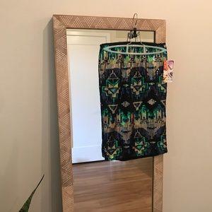 High Waisted Sequin Midi Skirt